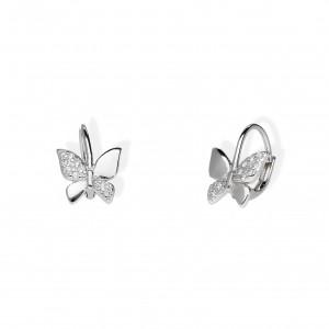 Srebrne Kolczyki - Motylki