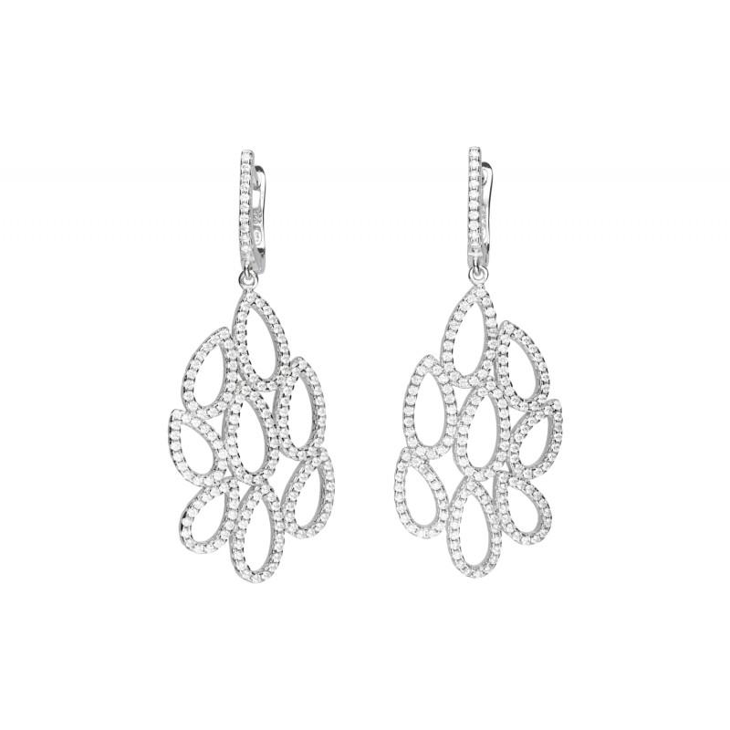 d558bd7e31b769 Srebrne kolczyki wiszące z cyrkoniami Indeks:K415MP | Biżuteria Eliza