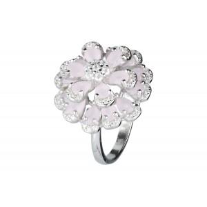 Srebrny duży pierścionek...