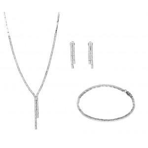 Srebrny komplet z cyrkoniami