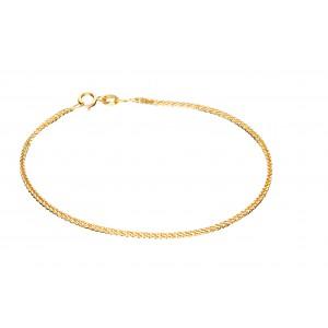 Złota bransoletka - lisi ogon