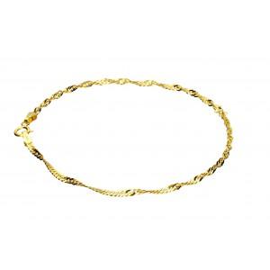 Złota bransoletka - singapur