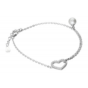 Srebrna bransoletka z perłą...
