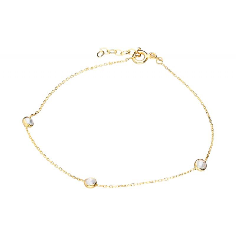 1e6448dba01992 Złota bransoletka z cyrkoniami Indeks:B458TA   Biżuteria Eliza