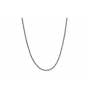 Srebrny łańcuszek ozdobny 65cm