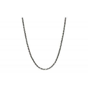 Srebrny łańcuszek ozdobny 80cm