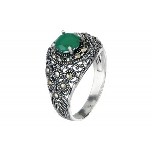 Srebrny pierścionek z...