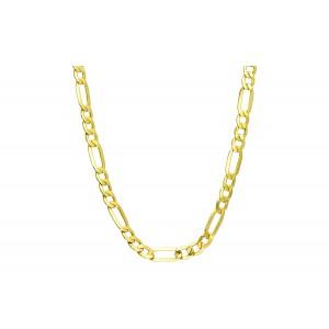 Złoty łańcuszek figaro - 60cm