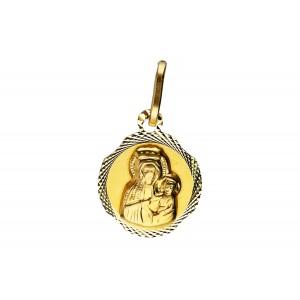 Złota zawieszka medalik
