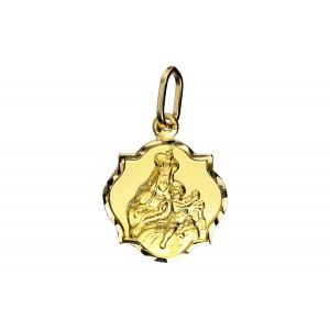 Złota zawieszka medalik...