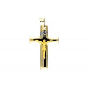 Złota zawieszka krzyżyk