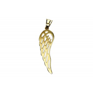 Złota zawieszka - skrzydło