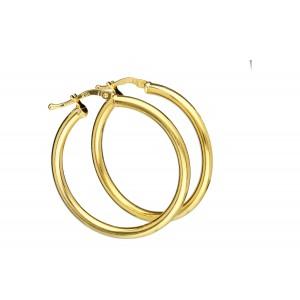 Złote kolczyki - koła 3cm