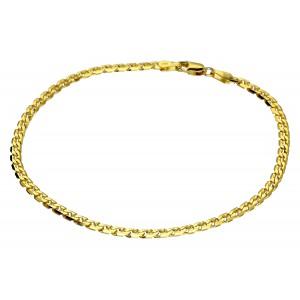 Złota bransoletka - krab 19cm