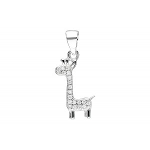 Srebrna zawieszka żyrafa