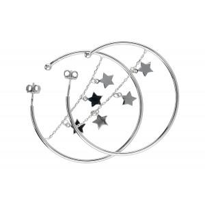 Kolczyki koła - gwiazdki 5cm