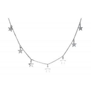 Srebrny naszyjnik - gwiazdki