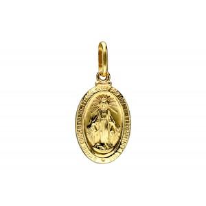 Złota zawieszka medalik -...