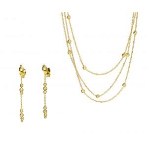Złoty komplet - naszyjnik +...