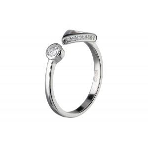 Srebrny pierścionek ze...