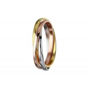 Srebrny pierścionek tricolor