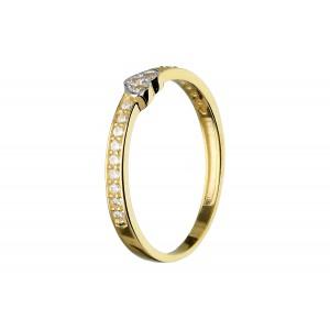 Złoty pierścionek z sercem