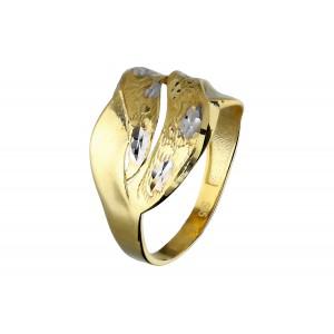 Złoty pierścionek z...