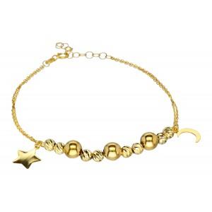 Złota bransoletka - symbole...