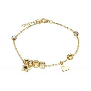 Złota bransoletka z elementami