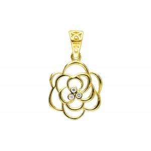 Złota zawieszka - kwiat
