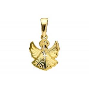 Złota zawieszka - anioł