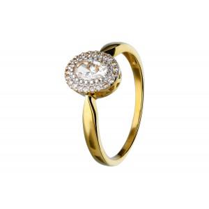 Złoty pierścionek z owalną...