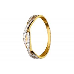 Złoty pierścionek - plecionka