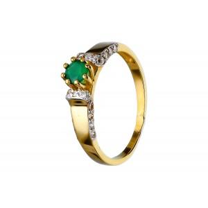 Złoty pierścionek ze...