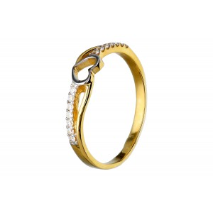 Złoty pierścionek - serce