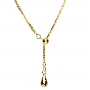 Złoty naszyjnik krawatka -...