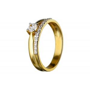 Złoty pierścionek - podwójny
