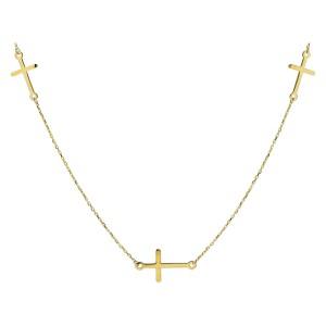 Złoty naszyjnik krzyże