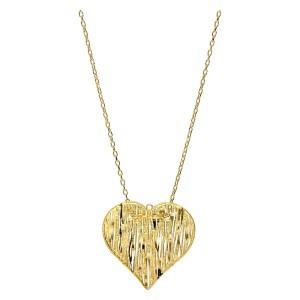 Złoty naszyjnik - serce...