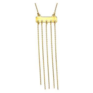 Złoty naszyjnik z wiszącym...