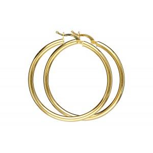 Złote kolczyki - koła 4,0cm