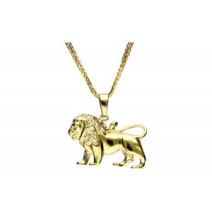 Złota zawieszka - lew