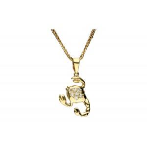 Złota zawieszka - skorpion