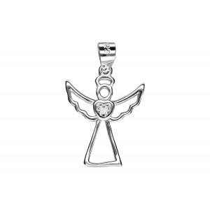 Srebrna zawieszka - aniołek
