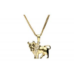 Złota zawieszka - byk