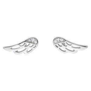 Srebrne kolczyki - skrzydła