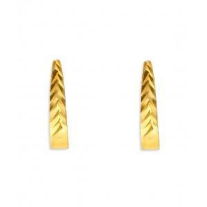 Złote kolczyki fasetowane
