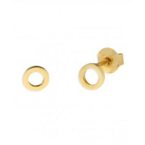 Złote małe kolczyki - krążki