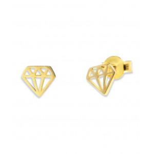 Złote kolczyki - diamenty