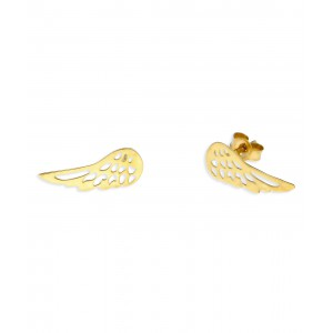 Złote kolczyki - skrzydła...
